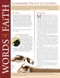 Words of Faith: Our Prayers (The Act of Contrition) [PDF License]