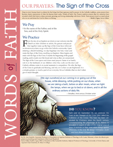 Words of Faith: Our Prayers (The Sign of the Cross) [PDF License]