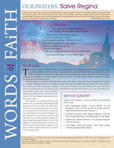 Words of Faith: Our Prayers (Salve Regina) [PDF License]