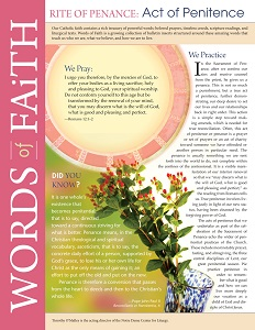 Words of Faith: Rite of Penance (Acts of Penitence) [PDF License]