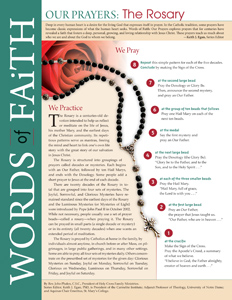 Words of Faith: Our Prayers (The Rosary) [PDF License]