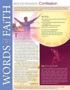 Words of Faith: Rite of Penance (Confession) [PDF License]