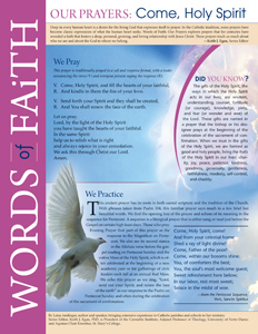 Words of Faith: Our Prayers (Come, Holy Spirit) [PDF License]