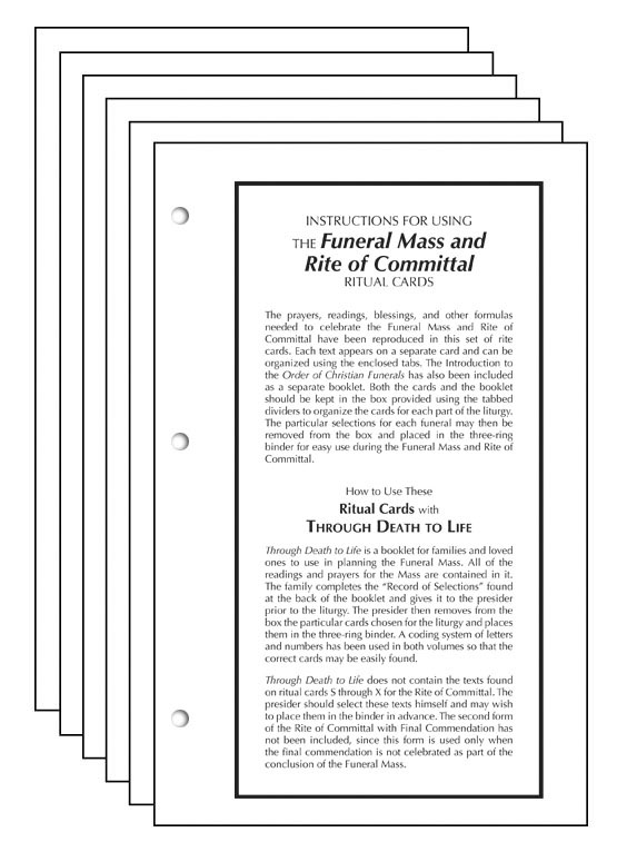 Funeral Mass and Rite of Committal Ritual Cards