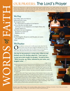 Words of Faith: Our Prayers (The Lord's Prayer) [PDF License]