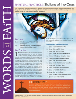 Words of Faith: Spiritual Practices (Stations of the Cross) [PDF License]