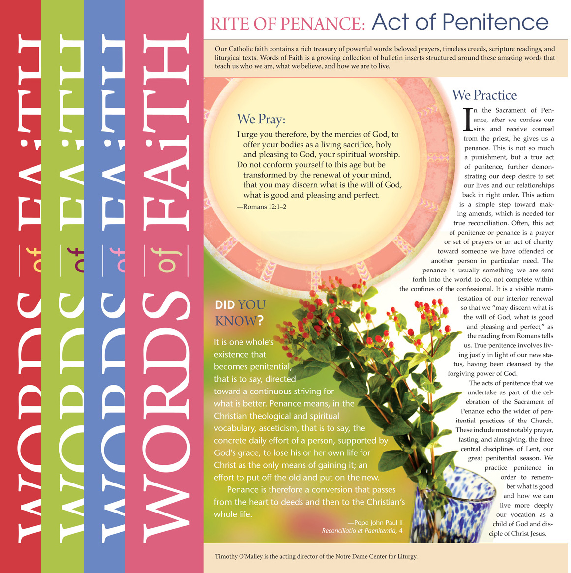 Words of Faith: Rite of Penance (Complete Set) [PDF License]