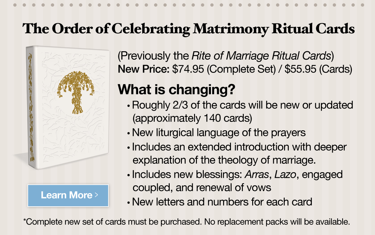 The Order of Celebrating Matrimony - Revised Cards